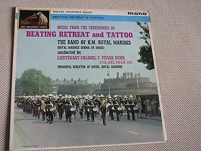 Beating The Retreat and Tattoo The Band of The Royal Marines Mono LP
