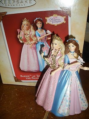 Hallmark Keepsake Ornament Barbie as the Princess and the Pauper 2004 Christmas