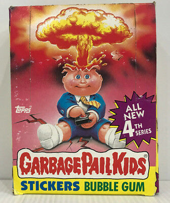 1986 TOPPS Garbage Pail Kids 48 Count Stickers Bubble Gum All New 4th Series MIB