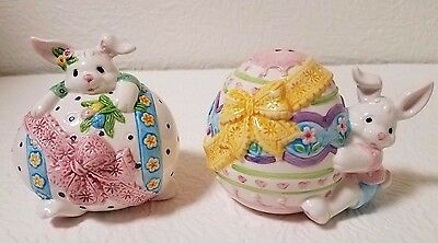 Cottontale Collections Easter Bunny Ceramic Salt And Pepper Shakes Nib