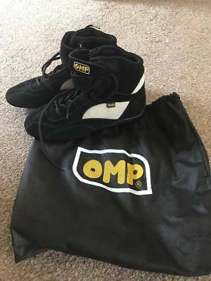 OMP Black Children's Go-Karting Boots | Size 40 (Age 6)