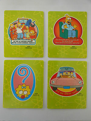 2005 Simpsons Bowling Tazos-X 4 Nuclear Family