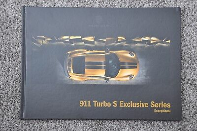 2018 Porsche 911 Turbo S Exclusive Series, Original US Hardback Brochure.