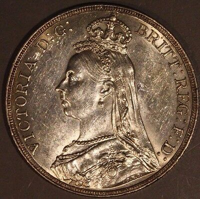 Great Britain 1891 Silver Crown ** FREE US SHIPPING **