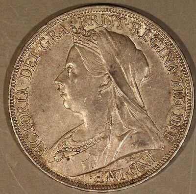 Great Britain Anno LXII 1898 Silver Crown ** FREE US SHIPPING **