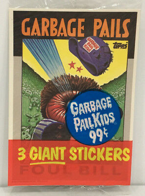 1986 TOPPS Garbage Pail Kids GIANT Stickers 3Pack #2 MOC