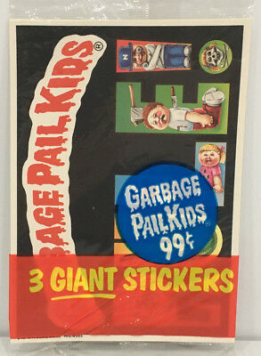 1986 TOPPS Garbage Pail Kids GIANT Stickers 3Pack #3 MOC