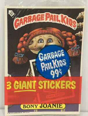 1986 TOPPS Garbage Pail Kids GIANT Stickers 3Pack #4 MOC