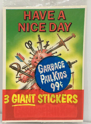 1986 TOPPS Garbage Pail Kids GIANT Stickers 3Pack #5 MOC