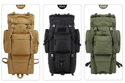 Military Tactical Outdoor Backpack 65L Volume For Camping Hiking Trekking N_o