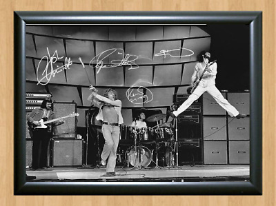 The Who John Entwistle Signed Autographed A4 Photo Poster Music Memorabilia cd