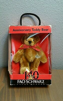 FAO Schwarz TEDDY BEAR Plush Stuffed 140  year anniversary 4.5""