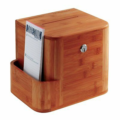 Safco Bamboo Suggestion Box 4237CY Cherry