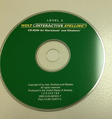 Holt Interactive Spelling - Level 2 CD