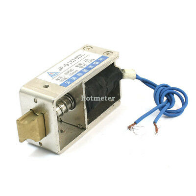 JF-S1670DL DC12V Spring Load Linear Door Locking Solenoid Electromagnet 10mm 40N