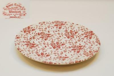 6 Grindley ROYAL TUDOR Bouquet Pink Dinner Plate Plates 10.25 Inch
