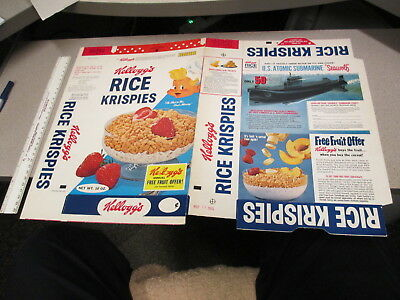 cereal box 1965 Rice Krispies US atomic submarine model kit premium baking soda