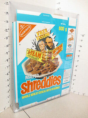 cereal box UK 1980s Nabisco Shreddies A TEAM Mr. T TV show action comic book