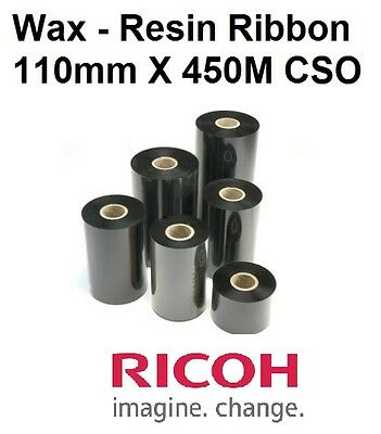 THERMAL TRANSFER RIBBON-110mmx450M CSO- ZEBRA,DATAMAX ,TOSHIBA PRINTER-10 Rolls
