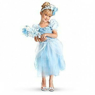 Disney Princess Cinderella Costume Size 5/6 + Accesories & Shoes COMPLETE