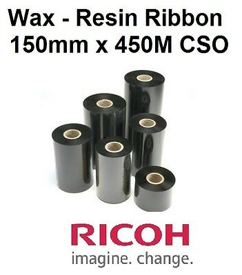 THERMAL TRANSFER RIBBON -150mmx450M CSO- ZEBRA,DATAMAX ,TOSHIBA PRINTER-10 Rolls