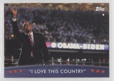 2008 Topps President Obama Collector Trading Cards #85 I Love This Country 1md