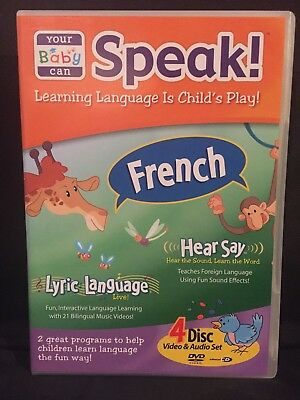 Your Baby Can Speak! French Hear Say/Lyric Language (2-CD+2-DVD,4 Discs,No Book)