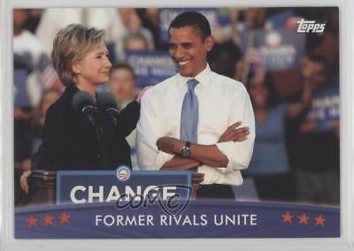 2008 Topps President Obama Collector Trading Cards #53 Former Rivals Unite 1md