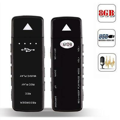 8GB 3-in-1 Digital Voice Recorder + Music MP3 Player + Removable U Disk