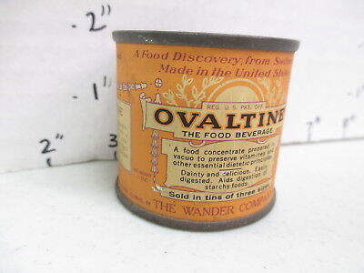 OVALTINE 1920s tin can FREE SAMPLE full drink mix Swiss Little Orphan Annie show