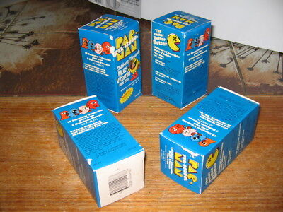 PAC MAN 1980 (1 box) vintage cereal children kid vitamin,video game BLUE #2
