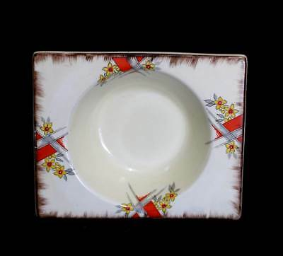 Vintage art deco 1930s The Biarritz Royal Staffordshire square edged bowl