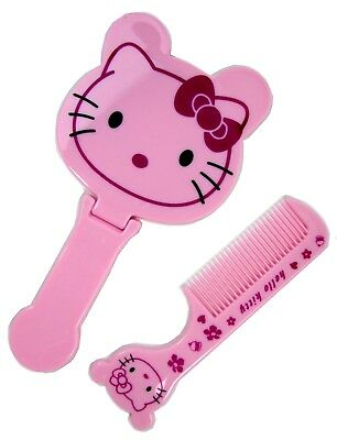 Girls Hello Kitty Pink Comb Mirror 2 Pc Set
