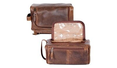 Scully Western Shave Kit Mens Aerosquadron Leather Walnut 151-10