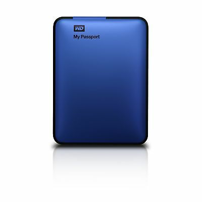 WD My Passport 1TB Portable External Hard Drive Storage USB 3.0 Blue (WDBBEP0...