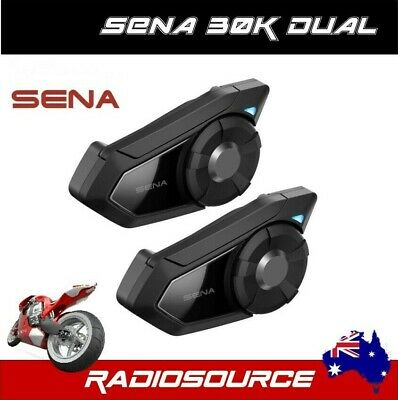SENA 30K DUAL MOTORCYCLE BLUETOOTH HEADSET  30k-01D + AUSTRALIAN DEALER + NEW