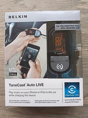 New Belkin Fm Transmitter With Gsp App Suitable For Iphones & Ipods