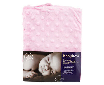 BabyRest Universal Change Mat Cover Twin Pack - Pink