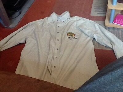 Disney's Animal Kingdom Khaki Embroidered Long Sleeve Buttoned  Casual Shirt
