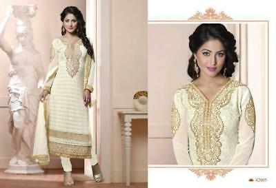 Expensive Georgette Semi Stitched Party Wear Salwar Suit With Nazneen Dupatta