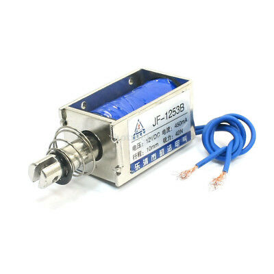 H● One Pieces JF-1253B DC 12V 450mA 42N /10mm Pull Push Type Solenoid