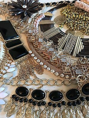 Lot (Y48) Broken Jewellery Up-Cycling Shabby Chic Vintage Style Crafts Repair