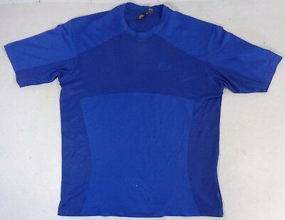 Lowe Alpine Mens Dry Zone Wicking Base Layer Crew Neck T-Shirt Blue Size Medium