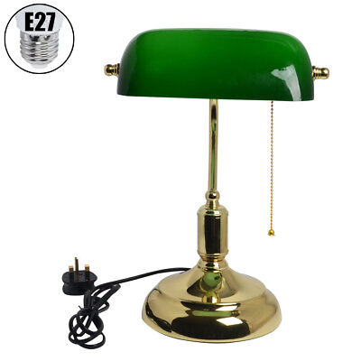 Bankers Desk Light Table Lamp Reading Tabletop Office Working Retro Elegant