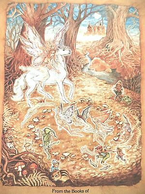 vintage 42 unicorn sprite fantasy fairy tale Antioch USA bookplates gummed