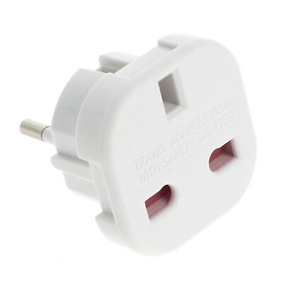 UK EU Travel Adapter AC Power Jack Charger World Plug Converter Charger Socket