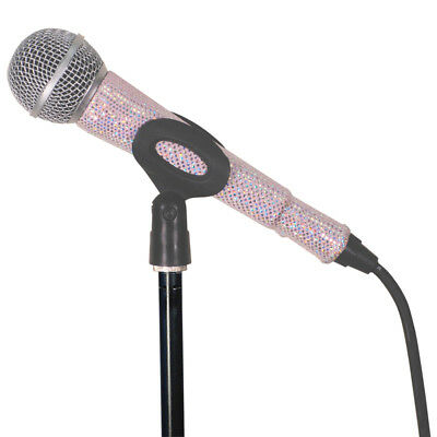 MicFX SF055 Corded Microphone Sleeve Glitter Effect Soft Pink