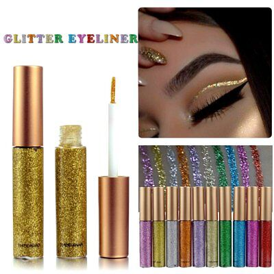 Eyeshadow Liquid Waterproof Glitter Eyeliner Gel Shimmer Makeup Cosmetics