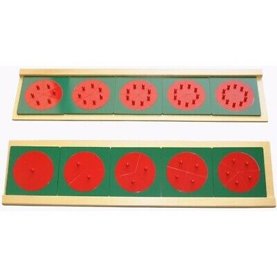 MONTESSORI Materials Equipment METAL FRACTIONS Circles with Stand MATHEMATICS