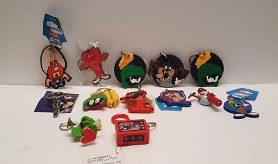 Vintage Looney Tunes keychain lot Marvin Taz Daffy